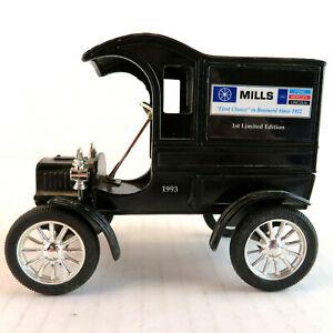 "1905 Ford Ertl Bank - Mills Ford of Willmar Brainerd MN 1993 5"" Metal Bank"