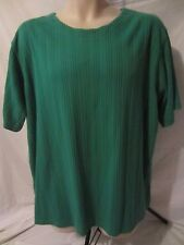 The Avenue Short Sleeve Green Top Blouse Shirt - Women's 22/24 - F39