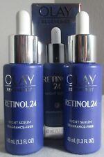 2X Olay Regenerist Retinol 24 night serum fragrance free B3 Retinoid complex