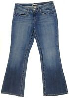 Refuge Women's Flare Boot Cut Jeans Size 11 Denim Pants Stretch Distressed 34x31