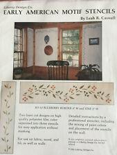 Blueberry border w/vine wall stencil: Liberty Design Co. early American motif