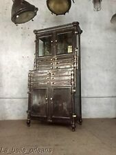 ANTIQUE INDUSTRIAL STEEL BOWN ASEPTIC DENTAL/ APOTHECARY CABINET. BEST IN SHOW!