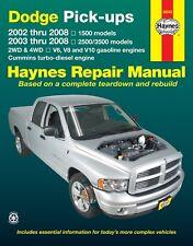 Haynes Manual Dodge pick ups V6, V8 & V10 turbo-diesel, 2WD & 4WD 02-08 30042