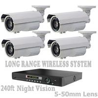 5,000FT LONG RANGE WIRELESS VIDEO TRANSMISSION NIGHT VISION CCTV CAMERA SYSTEM