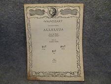 Vintage 1929 W-A-Mozart Carl Deis Alleluja Sheet Music G Schirmer Inc New York