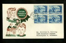 US FDC #1024 2nd Day Cachet Craft / Boll M-5 1953 DC Future Farmers Association