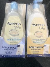 Aveeno Baby Wash And Shampoo With Wipes Plus Lotion