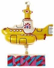 Christopher Radko Hand-Crafted European Glass, Yellow Submarine with Love