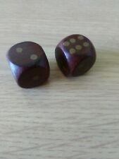 Two Wooden Dice, Ideal For Board Games Etc.