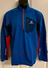 "New Salomon ""EQUIPE 1/2 ZIP"" Men's Medium Jacket Union Blue $200"
