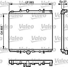 VALEO Wasserkühler Motorkühlung 732945 für CITROEN C8 Van PEUGEOT 807 2002-