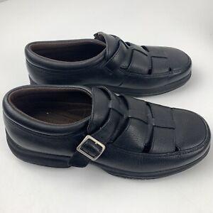 Florsheim Comfortech Black Strap Men's Shoes Size 12 W 60060 New