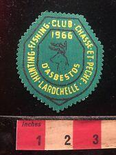 Vtg 1966 Rod & Gun Club Patch Canada Chasse et Pêche LaRochelle d'Asbestos 60B