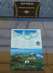 RARE SIGNED PGA STAR RICKIE FOWLER PEBBLE BEACH GOLF LINKS SCORECARD COA