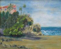 Plein air oil painting-View at Aliso Beach, 8x10 Original and signed