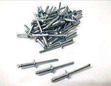 Steel Shaft Rivets. 4.0mm x 12mm. Pack of 50. Shaft. Open. Blind. *Top Quality!