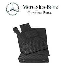 For Mercedes A207 C207 C & E-Class All Season Black Rubber Floor Mats Genuine