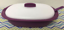 Tupperware Legacy Rice Server Bowl w/ Spoon Orchid w/ White Lid 7 1/2 Cups New