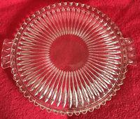 Torten- Kuchen- Käseplatte GLAS Kristall Servier-Teller mit Griffen 30cm x 3cm
