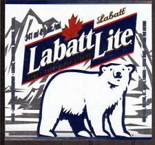 THEME ANIMAUX étiquette de BIERE LABATT - OURS - NEUF PORT OFFERT BEER BIER