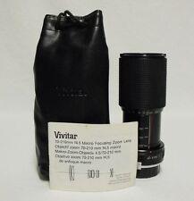 VIVITAR f/4.5 70-210mm Macro Zoom Lens SLR Film Camera DSLR KONICA AR Micro 4/3