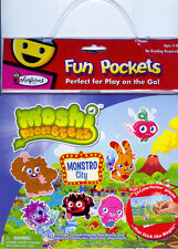 Fun Pockets MOSHI MONSTERS 34 Colorforms 2 Travel Boards NEW!!
