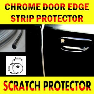Chrome Car Door Edge Guard Protector Moulding Trim 3m Molding Strip