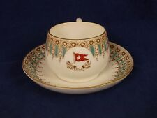 1911/1913 White Red Star Line First Class Wisteria Pattern Breakfast Cup Saucer