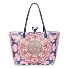 Desigual Afro Capri Shoulder Bag Schultertasche Shopper Fuchsia Rose