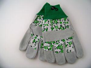 True Living Gardening Gloves Leather Outdoor Lawn Yard Work Flower Designs Vary