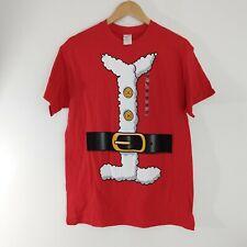 Ugly Christmas T-shirt Santa costume black Belt Medium