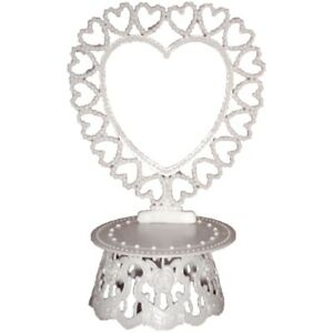 Cake top stand accessories plastic heart back & base