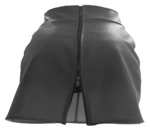 Größen 44 - 52 Lederrock schwarz gefüttert mit Doppelzipper 30cm - 60cm