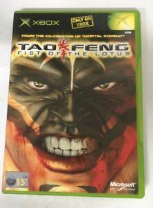Tao Feng Fist of the Lotus Original Microsoft Xbox Game FREE P&P