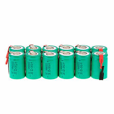 12Pcs NiCd 4/5 SubC Sub C 1.2V 2200mAh Rechargeable Battery with Tab UK STOCK