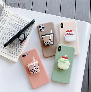3D Luxury cute cartoon Bubble Tea Soft silicone phone case for iPhone 11