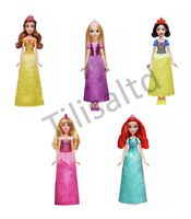 Disney Princess Royal Shimmer Belle, Aurora, Snow White,  Ariel, Rapunzel Dolls