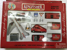 KINGFISHER (DEFUNCT AIRLINE) AEROPLANE AIRPORT PLAY SET TOY PROMO rare India