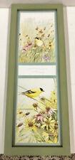 """Large Marjolein Bastin Nature Birds Picture Frame W/ Glass Hallmark 17 1/4"""""""