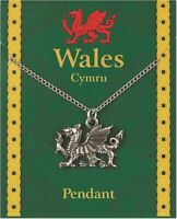 Welsh Dragon Pewter Pendant On A Chain