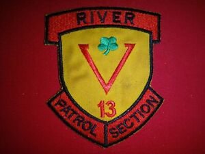 US Navy Brown Water PBR RIVER PATROL SECTION 13 Vietnam War Patch