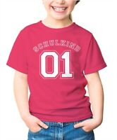 Kinder T-Shirt Mädchen Aufdruck Schulkind 01 Geschenk zur Einschulung