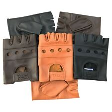 Fingerless wheelchair training gym bus driving cycle cow leather gloves 501-503