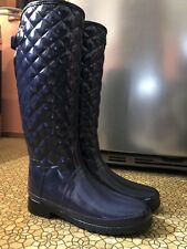 Quilted Print Tall Hunter Boots