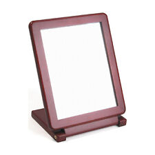 Countertop Rosewood Wooden Frame Folding Glass Mirror Retail Jewelry Makeup