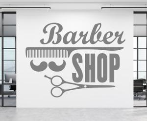 Barber Shop Scissors Salon Wall Window Shop decal sticker art Any colour & size.