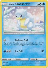 4x Alolan Sandshrew - 19/145 - Common Pokemon Near Mint Guardians Rising