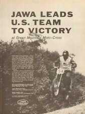 1962 Jawa Green Mountain Motocross Motorcycle Race Victory Vintage Ad