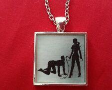 BDSM Mistress Necklace Day Collar Jewelry Leash Femdom Domme Dominatrix
