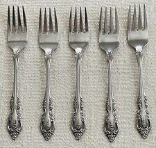 "New listing Oneida Community Brahms Stainless 6 3/4"" Salad Forks Set of 5"